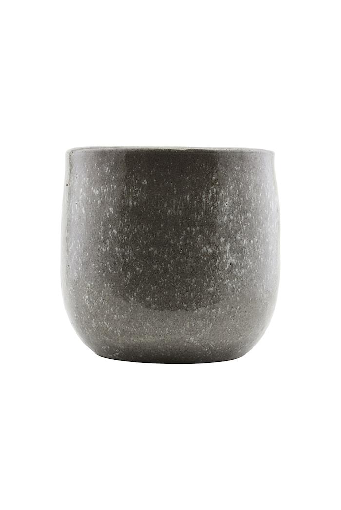 Vase Earth Ø 24x22 cm - Grå