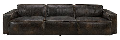 Buddy 4-sits soffa - Läder Fudge