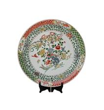 Fat, gröna växter och fåglar, Ming dynastin