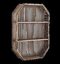 Rektangulær bamboo hylde