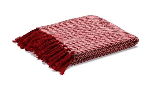 Fishbone pläd – Röd