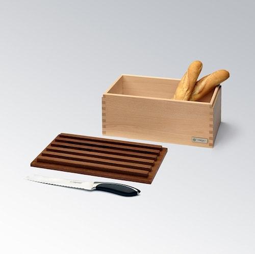 CRISPY Brödskrin i Ask med Skärbräda 40cm