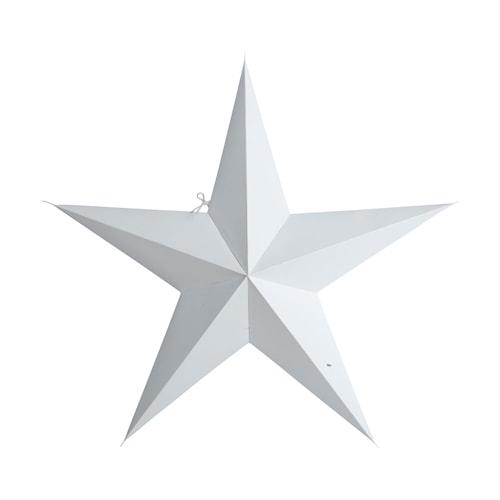 Julstjärna 5 point 60cm Vit