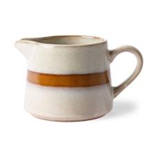 70's Keramik Gräddkanna Vit