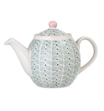 Maya Teapot, Green, Stoneware