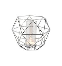 Lykta krompläterad glasrör 15 cm
