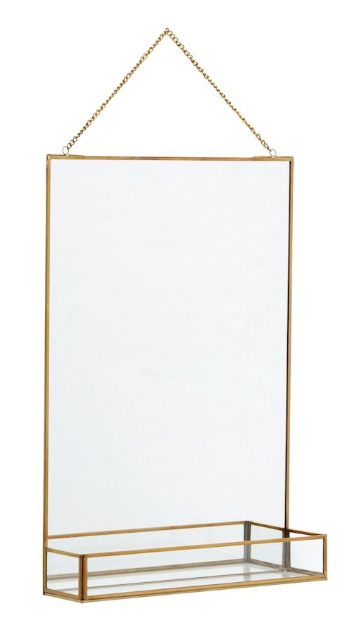Spegel med hylla 50x35 cm - Guld