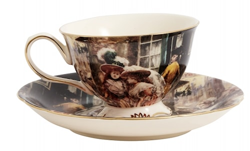 VICTORIAN Cup w. saucer, s/2