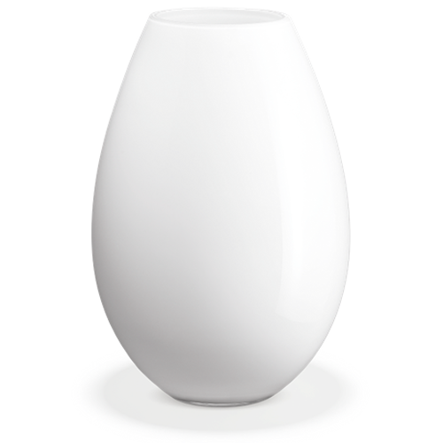 Cocoon Gulvvase, hvit, H 45 cm
