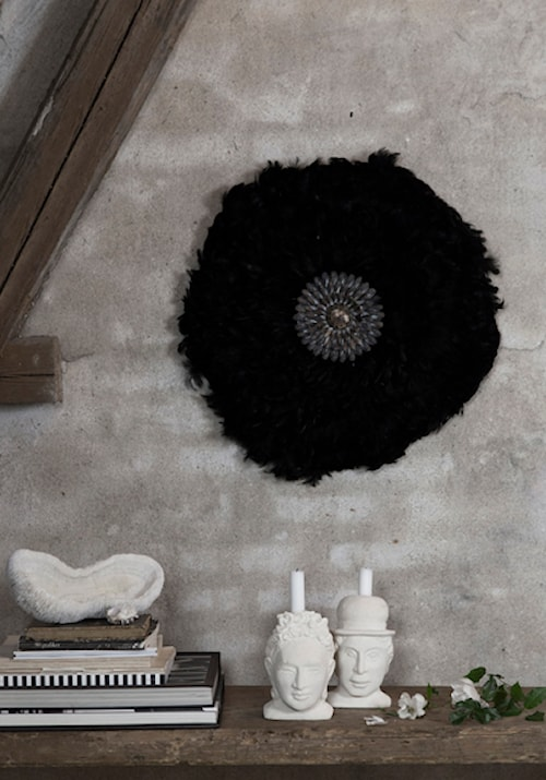 Feathers wall deco Svart