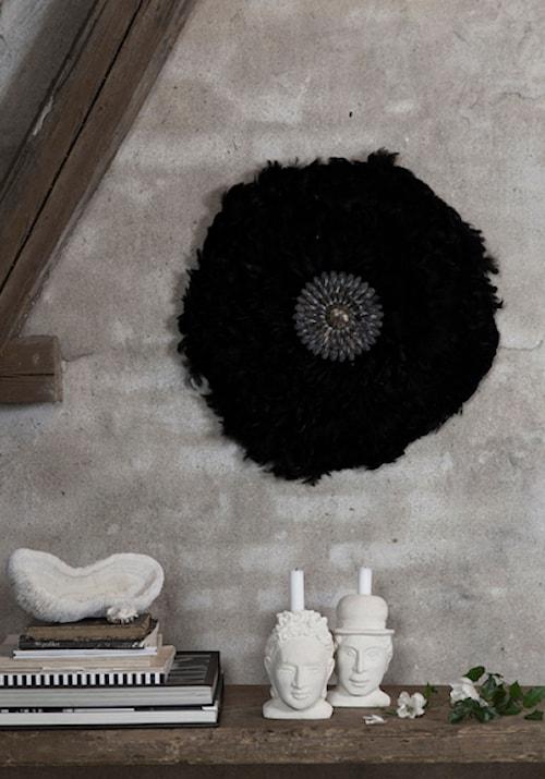 Feathers wall deco - Svart