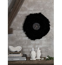 Feathers wall deco - Svart