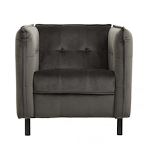 LOUNGE stol, warm grey, sort ben