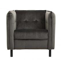 LOUNGE chair, warm grey, black legs