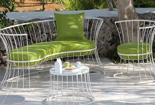 Clessidra trädgårdssoffa – Vit/grön