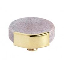 KNOB/HOOK, rose marble circle, brass