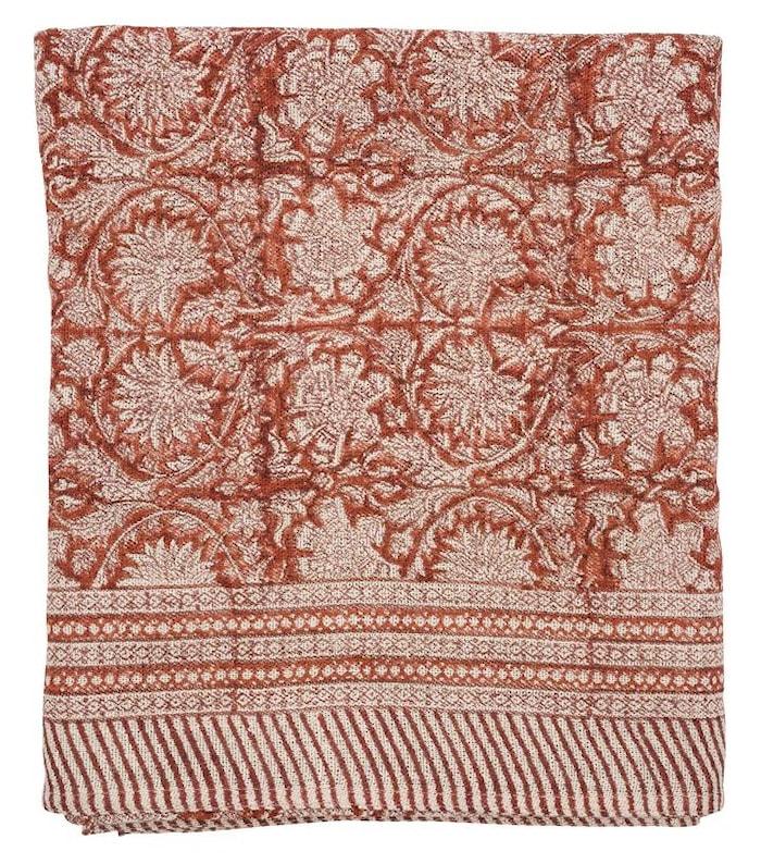 Linneduk Paradise 170x270 cm - Spicy Röd