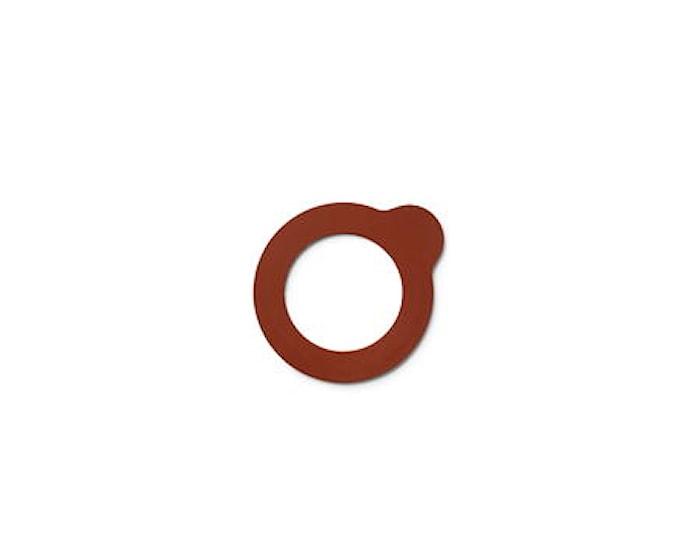 Lokk-eat gummiring til syltburk orange - 8 cm