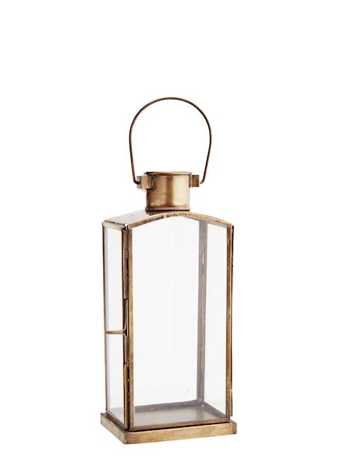 Lanterne 10x7x22 cm - Messing