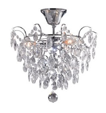 Rosendal Loftslampe 3 Lys Krom