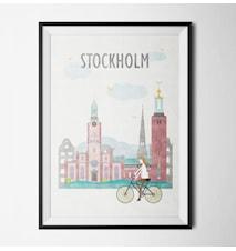 Stockholm by bike poster