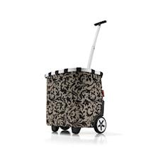 Shoppingvagn Brunt mönster 40 L