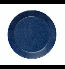 Teema tallerken 21 cm melerad blå