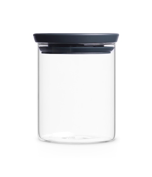 Glasbeholder Stabelbar 0.7 Ltr Glas/Gråt låg