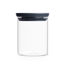 Stackable Jar 0.6 Liter Glass / Grey lid