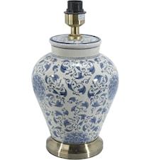 Fang Hong Lampfot Vit/Blå 38cm