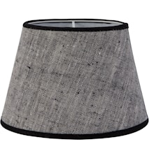 Oval Lampeskjerm Lin Grå 20 cm
