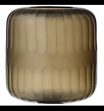 Striped cylinder glassvotive ljuslykta
