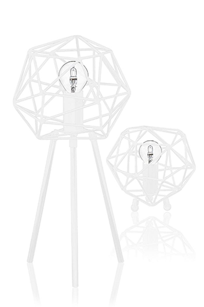 Bordlampe Diamond Hvit
