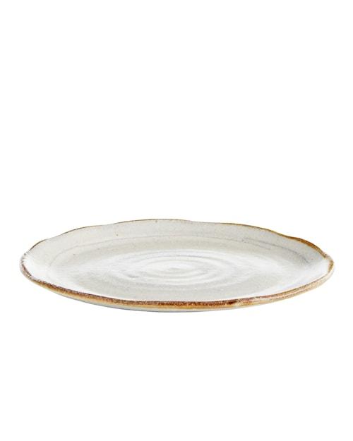 Assiett Ø 17 cm - Hvit/Brun