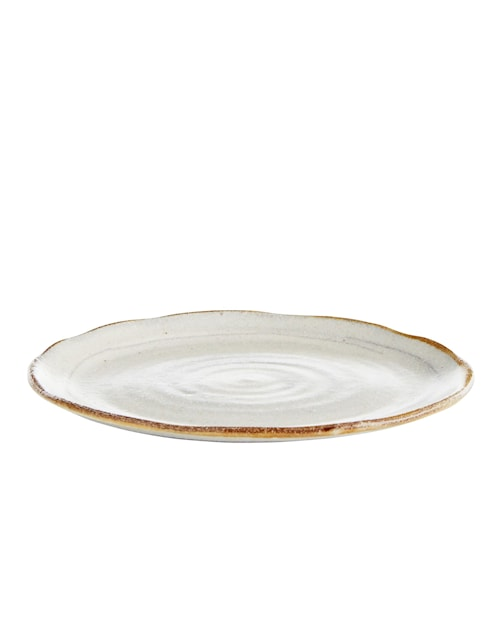 Asiette Ø 17 cm - Hvid/Brun