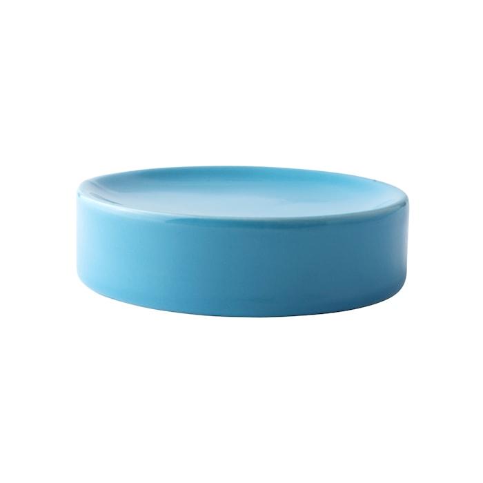 Sæbeskål - Keramik - Turkis - D 11,0cm - H 3,0cm - Stk.