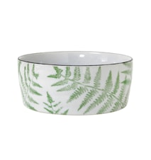 Jungle' Porslinsskål med ormbunksblad