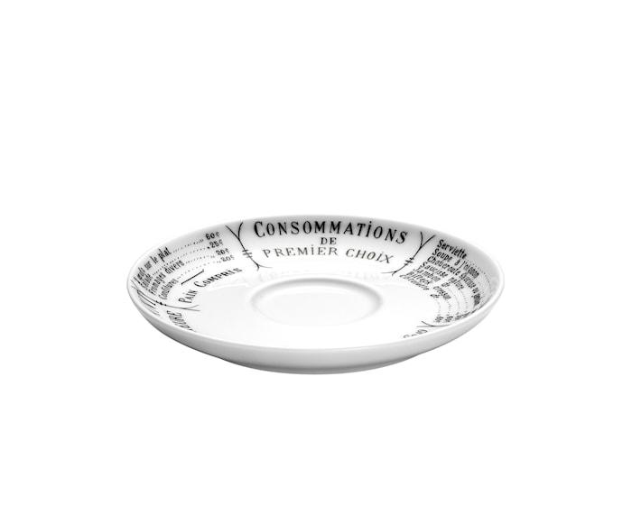 Brasserie fat Cecil vit/svart till kopp 18 cl