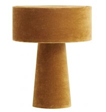 MUSHROOM table lamp, mustard velvet