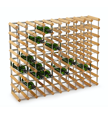 Wine rack for 90 bottles extendable Light Oak