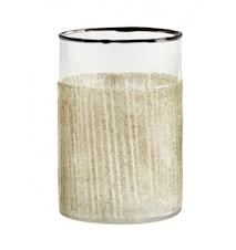 Ljusstake/Vas i Glas Sand 10cm