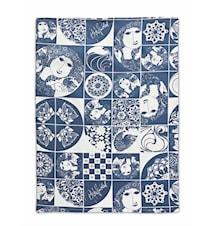 Kjøkkenhåndkle, blå, 50x70 cm