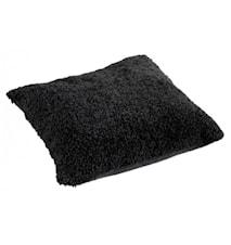 Ace Large Kudde fårskinn/ulltyg 50x50 - Black/Black