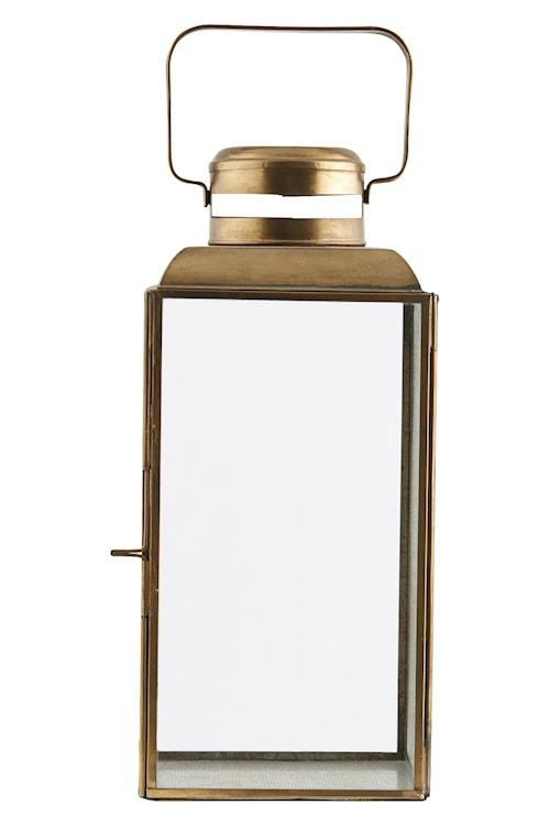 Lysholder Vintage 14x14x30 cm - Messing