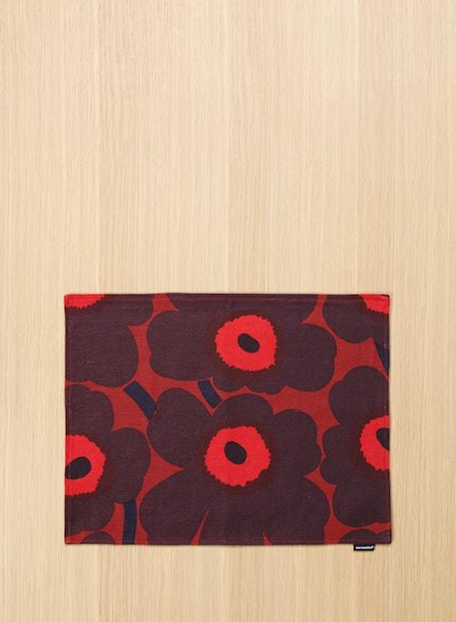 Pieni unikko bordstabelett - Rød, blomme