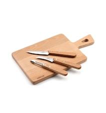 Skrellekniv-sett og skjærebrett 4d