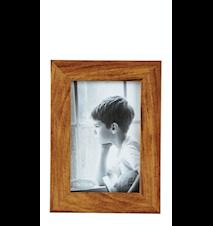 Fotoramme - Træstruktur - PP - Glass - Natur - H 1,5cm - L 15,0cm - B 10,0cm