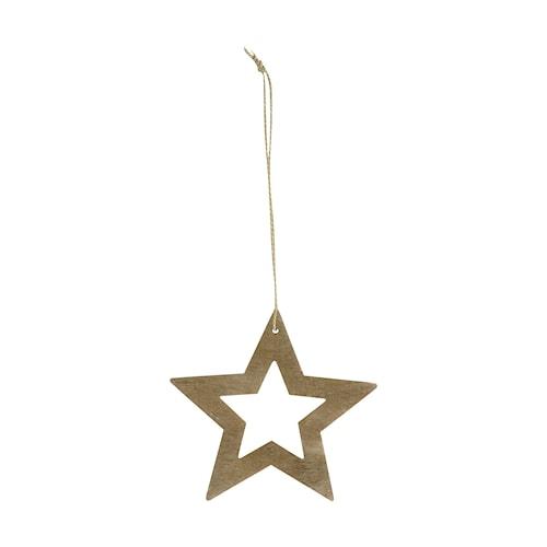 Dekoration Stars Ø 8 cm - Træ