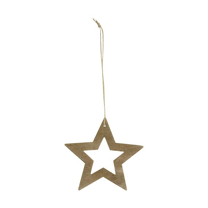 Ornament Stars Ø 8 cm Trä