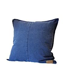 Putetrekk m knapper 50x50 cm, blå